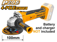 INGCO 20V Lithium-ion Angle Grinder (BARE UNIT)