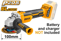 INGCO 20V Lithium-ion Angle Grinder with Brushless Motor (BARE UNIT)